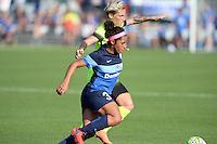 Kansas City, MO - Saturday June 25, 2016:  Desiree Scott, Jessica Fishlock during a regular season National Women's Soccer League (NWSL) match at Swope Soccer Village.