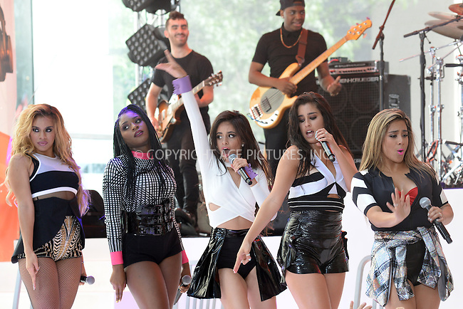 WWW.ACEPIXS.COM<br /> July 10, 2015 New York City<br /> <br /> Dinah Hansen, Normani Hamilton, Camila Cabello, Lauren Jauregui  and Ally Brooke of Fifth Harmony performing in Concert on NBC's 'Today' at Rockefeller Plaza on July 10, 2015 in New York City.<br /> <br /> Credit: Kristin Callahan/ACE Pictures<br /> Tel: (646) 769 0430<br /> e-mail: info@acepixs.com<br /> web: http://www.acepixs.com