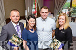 Ger Collopy and Elaine Healy with Greig Lejwoda left and Kelly Ann O'Connor at the Brehon Hotel wedding fair on Sunday