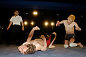 "May 17, 2008, Tokyo, Japan - ""Yokkoisho"" fights with Yasuhiro Kayahara, AKA ""No Sympathy"". Both wrestlers suffer from cerebral palsy. Referee Shinsuke Funabashi watches on.  (Photo by Tony McNicol/AFLO)"
