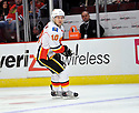 NIKLAS HAGMAN,  of the Calgary Flames in action  during the Flames  game against the Chicago Blackhawks at the United Center in Chicago, IL.  The Chicago Blackhawks beat the Calgary Flames 4-2 in Chicago, Illinois on December 5, 2011....