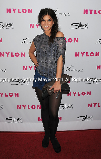 HOLLYWOOD, CA - MARCH 24: Katie Sharp arrives at NYLON Magazine's 12th Anniversary Issue Party With The Cast of Sucker Punch at Tru Hollywood on March 24, 2011 in Hollywood, California.