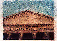 Facade of the Pantheon, Rome, Italy<br />