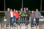 Killahan Ginger winner of the KGOBA Stakes Final at the Kingdom Greyhound Stadium on Saturday. Pictured L-r John Reidy, Theresa Reidy, Julie Ann O'Keeffe, Theresa Houlihan presented to Vincent McKenna, Addeydorney, owner, Declan Dowling, Eoin Reidy, Bestie Jr O'Keeffe, John O'keefe