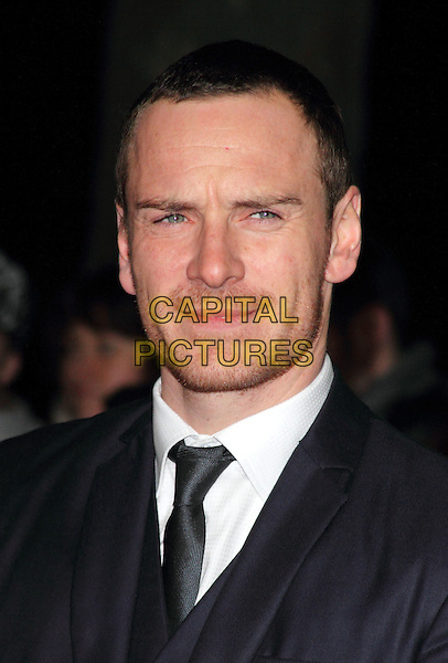 Michael Fassbender.London Film Critics' Circle Awards at the BFI, Southbank, London, England..January 19th 2012.headshot portrait  blue black white tie suit stubble facial hair .CAP/ROS.©Steve Ross/Capital Pictures