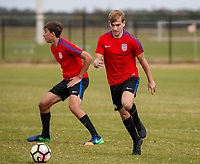 Lakewood Ranch, FL : The US Soccer U-20 MNT trains at the Premiere Sports Complex during the Men's Youth National Team Summit in Lakewood Ranch, Fla., on January 8, 2018. (Photo by Casey Brooke Lawson)