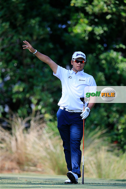 Hideki Matsuyama (JAP) during round 1of the Players, TPC Sawgrass, Championship Way, Ponte Vedra Beach, FL 32082, USA. 12/05/2016.<br /> Picture: Golffile | Fran Caffrey<br /> <br /> <br /> All photo usage must carry mandatory copyright credit (&copy; Golffile | Fran Caffrey)