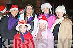 Enjoying the Christmas in Killarney parade on Friday night was front l-r: Saoirse O'Brien and Ava Dwyer. Back row: Niamh O'Donoghue, Eleanor Coffey, Geraldine O'Halloran and Margaret Pigott......