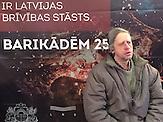"Janis Dambis Zeitzeuge des ""Blutsonntags"" in Lettland am 13. Januar 1991."