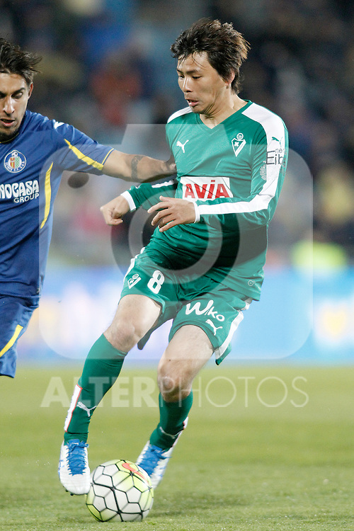 Sociedad Deportiva Eibar's Takashi Inui during La Liga match. March 18,2016. (ALTERPHOTOS/Acero)