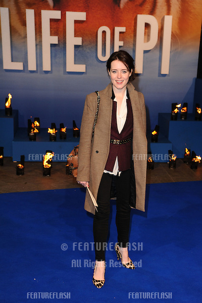 "Claire Foy arriving for the ""Life of Pi"" premiere at the Empire, Leicester Square, London. 03/12/2012 Picture by: Steve Vas / Featureflash"