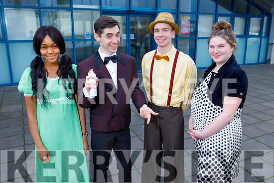 Mercy Mounthawk students, Favor Itsede, Padraig Harrington, Mikey McCarthy and Amy Naughton letting their hair down as they launch Hairspray the Musical at the school on Saturday