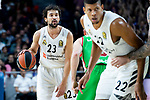 Real Madrid Sergio Llull. during Turkish Airlines Euroleague match between Real Madrid and Kirolbet Baskonia at Wizink Center in Madrid, Spain. October 19, 2018. (ALTERPHOTOS/Borja B.Hojas)