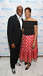 Kenny Leon and Lynda R. Diamond attend the SDC Foundation presents The Mr. Abbott Award honoring Kenny Leon at ESPACE on March 27, 2017 in New York City.