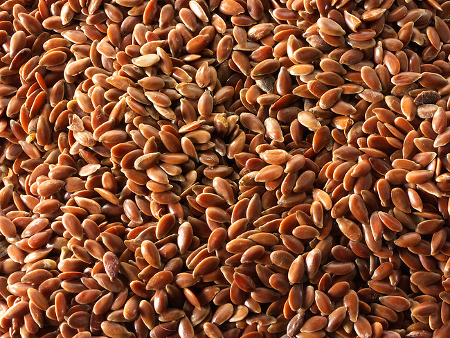 Organic brown linseed stock photos