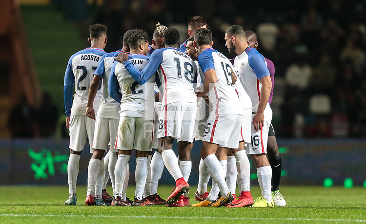 Leiria, Portugal - Tuesday November 14, 2017: USMNT during an International friendly match between the United States (USA) and Portugal (POR) at Estádio Dr. Magalhães Pessoa.