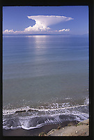 Strange Cloud Over Mt. Baker and the Strait of Juan de Fuca, Olympic Peninsula, Washington, US