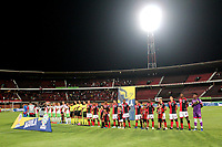 CÚCUTA-COLOMBIA, 13-10-2019: Jugadores de Cúcuta Deportivo y Patriotas Boyacá durante partido entre Cúcuta Deportivo y Patriotas Boyacá, de la fecha 17 por la Liga Águila II 2019, jugado en el estadio General Santander de la ciudad de Cúcuta. / Players of Cucuta Deportivo, during a match between Cucuta Deportivo and Patriotas Boyaca, of the 17th date for the Aguila Leguaje II 2019 at the General Santander Stadium in Cucuta city Photo: VizzorImage / Manuel Hernández / Cont.