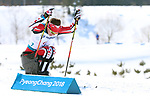 Pyeongchang, Korea, 11/3/2018-Derek Zaplotinsky  competes in the 15k sitting cross country during the 2018 Paralympic Games in PyeongChang. Photo Scott Grant/Canadian Paralympic Committee.