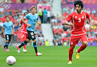July 26, 2012..UAE's Amer Abdulrahman (5). UAE vs Uruguay Football match during 2012 Olympic Games at Old Trafford in Manchester, England. Uruguay defeat United Arab Emirates 2-1...