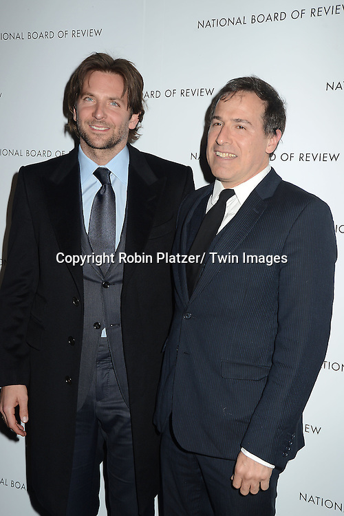 Bradley Cooper and David O' Russell  attends the 2013 National Board of Review Awards Gala on January 8, 2013 at Cipriani 42nd Street in New York City.