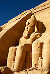 Egypt, along the upper Nile:  Massive Ramses sculpture. Photo: egypts007.Photo copyright Lee Foster, 510/549-2202, lee@fostertravel.com, www.fostertravel.com .