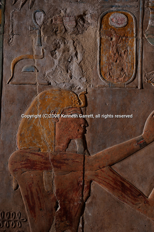 Hatshepsut, Egypt, Dier El Bahri, Luxor, Main Sanctuary of Amun-Re, Hatshepsut, Neferure, the daughter as Queen Ahmes, and Thutmosis III