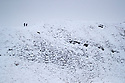 29/12/17<br /> <br /> Hikers make their way along Rushup Edge above Edale in the Derbyshire Peak District.<br /> <br /> All Rights Reserved F Stop Press Ltd. +44 (0)1335 344240 +44 (0)7765 242650  www.fstoppress.com