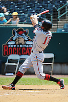 Richmond Flying Squirrels outfielder  Jarrett Parker (12) during game against the New Britain Rock Cats at New Britain Stadium on May 30, 2013 in New Britain, CT.  New Britain defeated Richmond 2-1.  (Tomasso DeRosa/Four Seam Images)