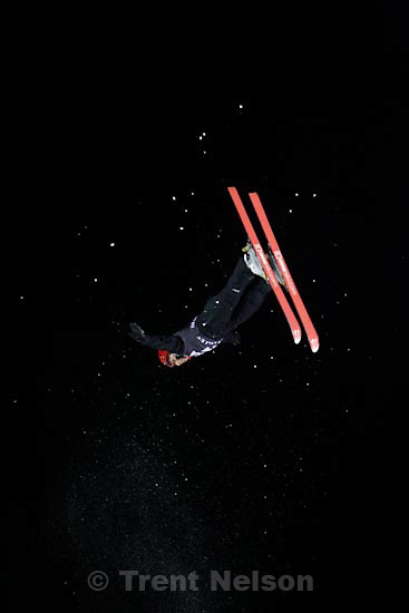 Trent Nelson  |  The Salt Lake Tribune.Genevieve Tougas, Canada, Aerials competition at the FIS Freestyle World Cup at Deer Valley, Friday, January 15, 2010.
