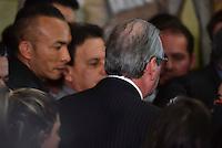 BRASILIA, DF – 07.07.2016 – CUNHA–RENÚNCIA – O deputado afastado, Eduardo Cunha, durante coletiva de imprensa para anunciar a renúncia da Presidência da Câmara dos Deputados, na tarde desta quinta-feira, 07. (Foto: Ricardo Botelho/Brazil Photo Press)