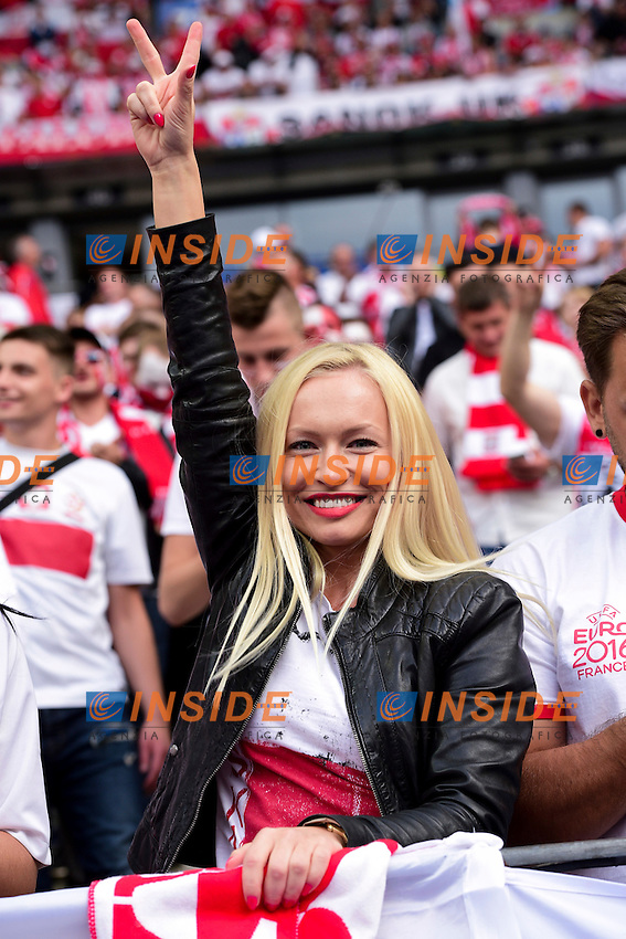 Tifosi Polonia Fans Poland <br /> Paris 16-06-2016 Stade de France Football Euro2016 Germany - Poland / Germania - Polonia Group Stage Group C. Foto JB Autissier / Panoramic / Insidefoto