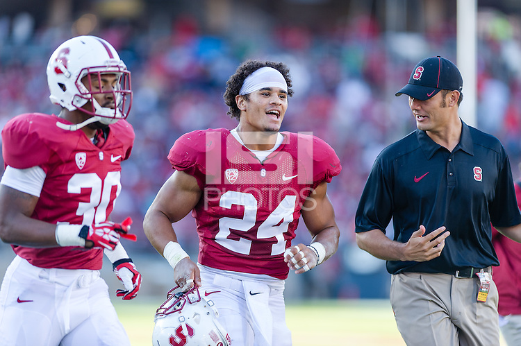 STANFORD, CA - SEPTEMBER 22, 2013: Patrick Skov during Stanford's game against Arizona State. The Cardinal defeated the Sun Devils 42-28.