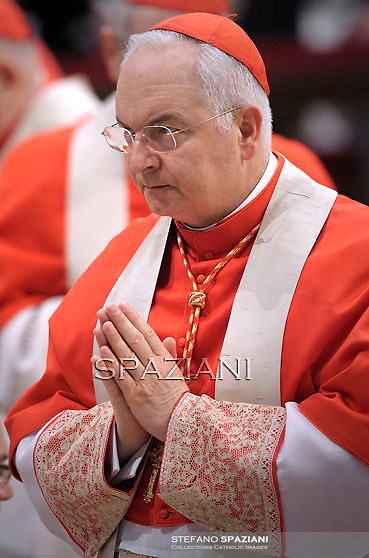 cardinal  Mauro Piacenza ;Pope Benedict XVI The pontiff appointed two new bishops during the mass. the Solemnity of Epiphany at St Peter's basilica at the Vaticanon January 6, 2012 .