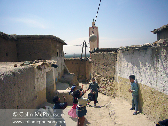 Berber children playing at a village in the Atlas mountains near Taroudant in southern Morocco. Berbers were the indigenous peoples of North Africa west of the Nile Valley and speak various Berber languages, which together form a branch of the Afroasiatic language family. Between 14 and 25 million Berber speakers live within this region, most densely in Morocco and becoming generally scarcer eastward through the rest of the Maghreb and beyond.