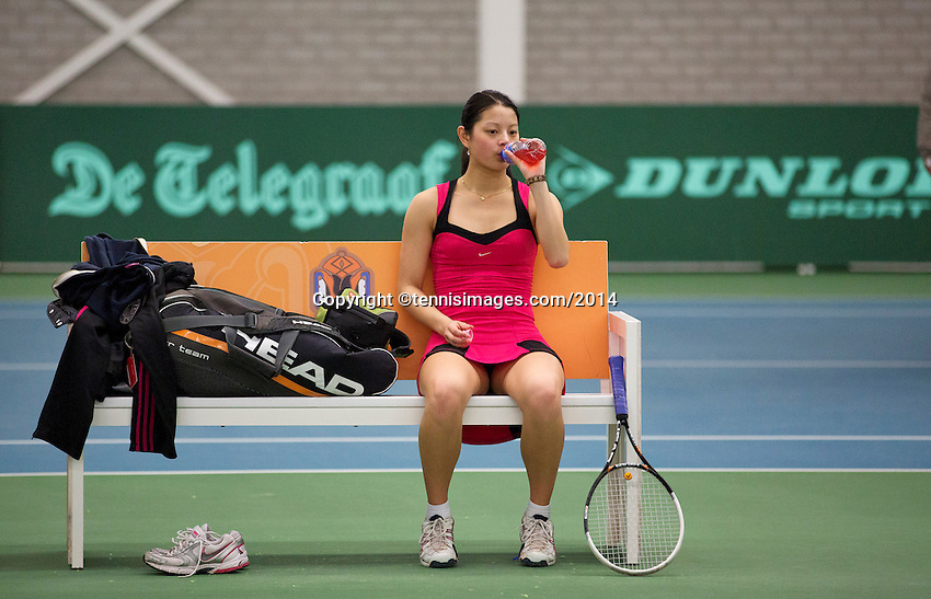 Rotterdam, The Netherlands, 15.03.2014. NOJK 14 and 18 years ,National Indoor Juniors Championships of 2014, Final girls 18 years : Arianne Hartono (NED)<br /> Photo:Tennisimages/Henk Koster