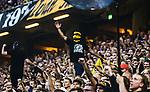 Solna 2014-08-13 Fotboll Allsvenskan AIK - Djurg&aring;rdens IF :  <br /> Maskerad AIK-supporter med en balacvlava r&aring;narluva luva <br /> (Foto: Kenta J&ouml;nsson) Nyckelord:  AIK Gnaget Friends Arena Allsvenskan Derby Djurg&aring;rden DIF supporter fans publik supporters