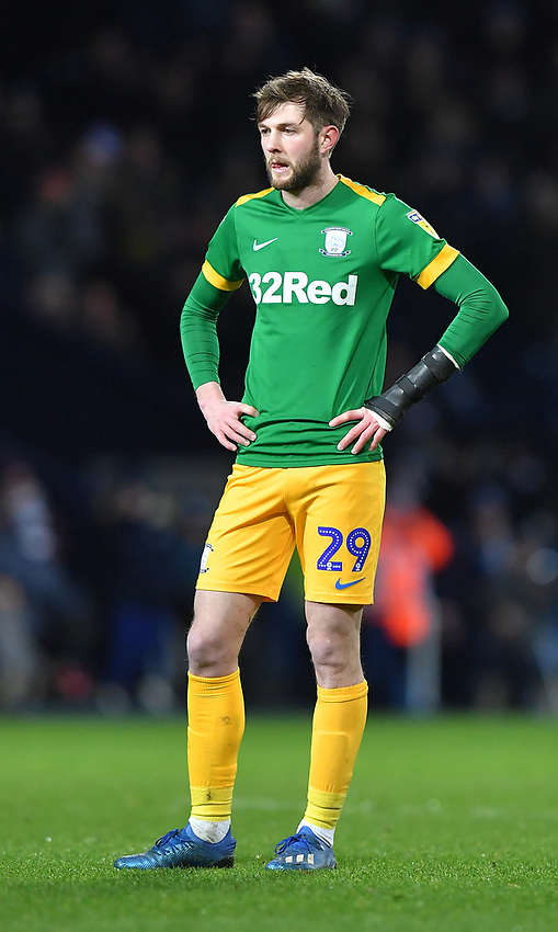 A dejected Preston North End's Tom Barkhuizen<br /> <br /> Photographer Dave Howarth/CameraSport<br /> <br /> The EFL Sky Bet Championship - West Bromwich Albion v Preston North End - Tuesday 25th February 2020 - The Hawthorns - West Bromwich<br /> <br /> World Copyright © 2020 CameraSport. All rights reserved. 43 Linden Ave. Countesthorpe. Leicester. England. LE8 5PG - Tel: +44 (0) 116 277 4147 - admin@camerasport.com - www.camerasport.com
