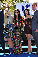 Actresses Meghan Trainor, Demi Lovato &amp; Ariel Winter &amp; actor Jack McBrayer at the world premiere for &quot;Smurfs: The Lost Village&quot; at the Arclight Theatre, Culver City, USA 01 April  2017<br /> Picture: Paul Smith/Featureflash/SilverHub 0208 004 5359 sales@silverhubmedia.com