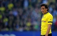 FUSSBALL   1. BUNDESLIGA   SAISON 2012/2013   4. SPIELTAG Hamburger SV - Borussia Dortmund               22.09.2012         Mats Hummels (Borussia Dortmund) enttaeuscht
