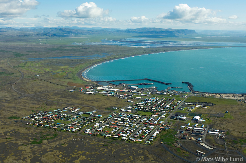 Þorlákshöfn séð til norðurs, Ölfushreppur / Thorlakshofn viewing north, Olfushreppur.