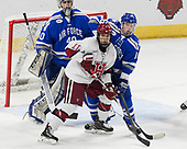 Shane Starrett (AFA - 40), Ty Pelton-Byce (Harvard - 11), Kyle Haak (AFA - 16) - The Harvard University Crimson defeated the Air Force Academy Falcons 3-2 in the NCAA East Regional final on Saturday, March 25, 2017, at the Dunkin' Donuts Center in Providence, Rhode Island.