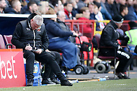 Blackpool's Manager Terry McPhillips takes on the touchline<br /> <br /> Photographer David Shipman/CameraSport<br /> <br /> The EFL Sky Bet League One - Charlton Athletic v Blackpool - Saturday 16th February 2019 - The Valley - London<br /> <br /> World Copyright © 2019 CameraSport. All rights reserved. 43 Linden Ave. Countesthorpe. Leicester. England. LE8 5PG - Tel: +44 (0) 116 277 4147 - admin@camerasport.com - www.camerasport.com