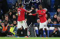 Manchester United's recent signing, Odion Ighalo makes his debut as he comes on as a second half substitute for Anthony Martial during Chelsea vs Manchester United, Premier League Football at Stamford Bridge on 17th February 2020