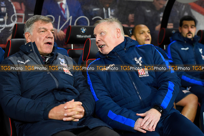 Assistant Sammy Lee right speaks to Crystal Palace Manage Sam Allardyce during AFC Bournemouth vs Crystal Palace, Premier League Football at the Vitality Stadium on 31st January 2017