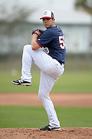Minnesota Twins pitcher Casey Fien (50) during practice on February 25, 2014 at Hammond Stadium in Fort Myers, Florida.  (Mike Janes Photography)