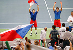Tenis, Davis Cup 2010.Serbia Vs. Czech Republic, semifinals.Novak Djokovic and Nenad Zimonjic Vs. Radek Stepanek and Tomas Berdych.Doubles.Beograd, 17.09.2010..foto: Srdjan Stevanovic/Starsportphoto ©