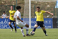 Harvey St Clair of Chelsea and Scotland U21's tackles Kyuhyuk Lee of South Korea during South Korea Under-21 vs Scotland Under-21, Tournoi Maurice Revello Football at Stade Parsemain on 2nd June 2018