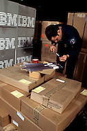 "Silicon Valley, California - February 1983. American customs officials inspect all shipments of electronic material, coming from Silicon Valley and sent abroad. Here some ""suspicious"" packages are opened. Silicon Valley is the largest high-tech manufacturing center in the United States, and is the region most famous for innovations in software and Internet services."