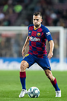 29th October 2019; Camp Nou, Barcelona, Catalonia, Spain; La Liga Football, Barcelona versus Real Valladolid; 18 Jordi Alba controls the ball in midfield  - Editorial Use